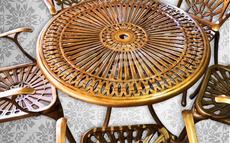Bàn ghế nhôm đúc - MQP - BGH05