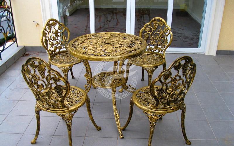 Bàn ghế nhôm đúc - MQP - BGH08