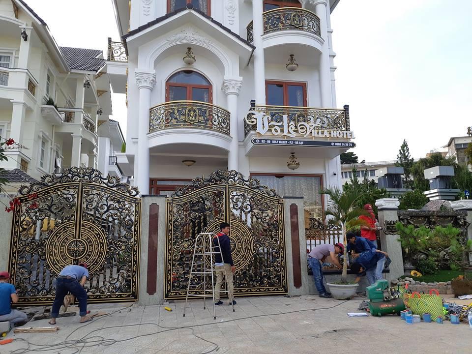 Cổng nhôm đúc Mạnh Quân Phát thi công tại Đà Lạt