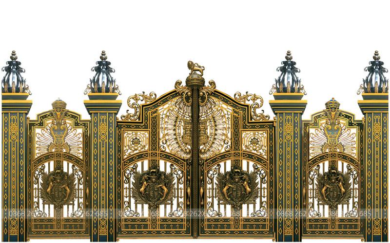 Cổng nhôm đúc - MQP67: Mẫu Cổng nhôm đúc Buckingham