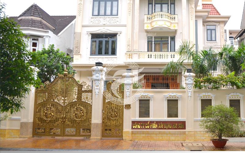 Thi công cổng nhôm đúc tại Đồng Nai