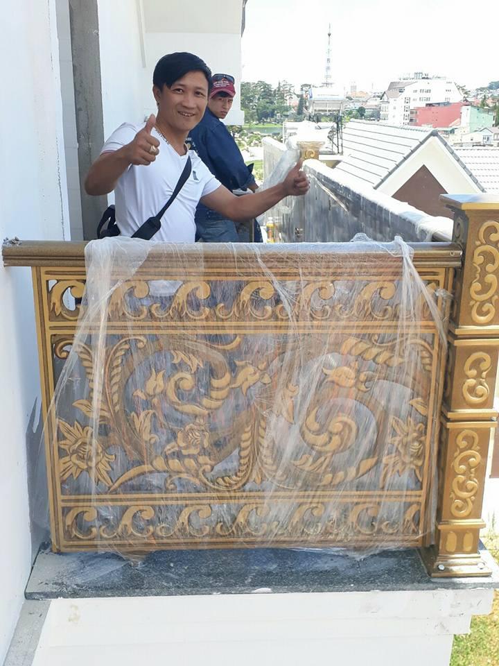 Lan can nhôm đúc thi công tại Đà Lạt Lâm Đồng - Lan can Mạnh Quân Phát