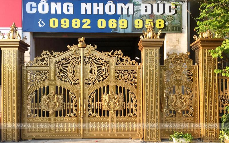 Cổng nhôm đúc Mạnh Quân Phát có chi nhánh tại Hà Nội không?